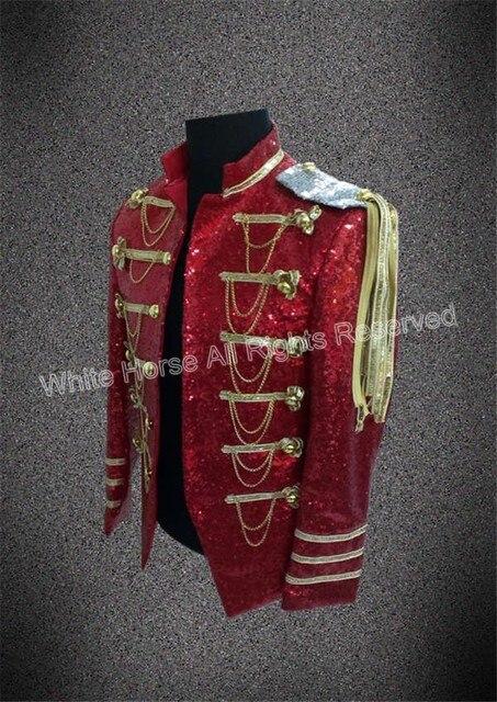 Bling Bling Men Blazer Mens burgundy blazer sequin jacket Club Dresses Men Costumes Performance Jacket Man