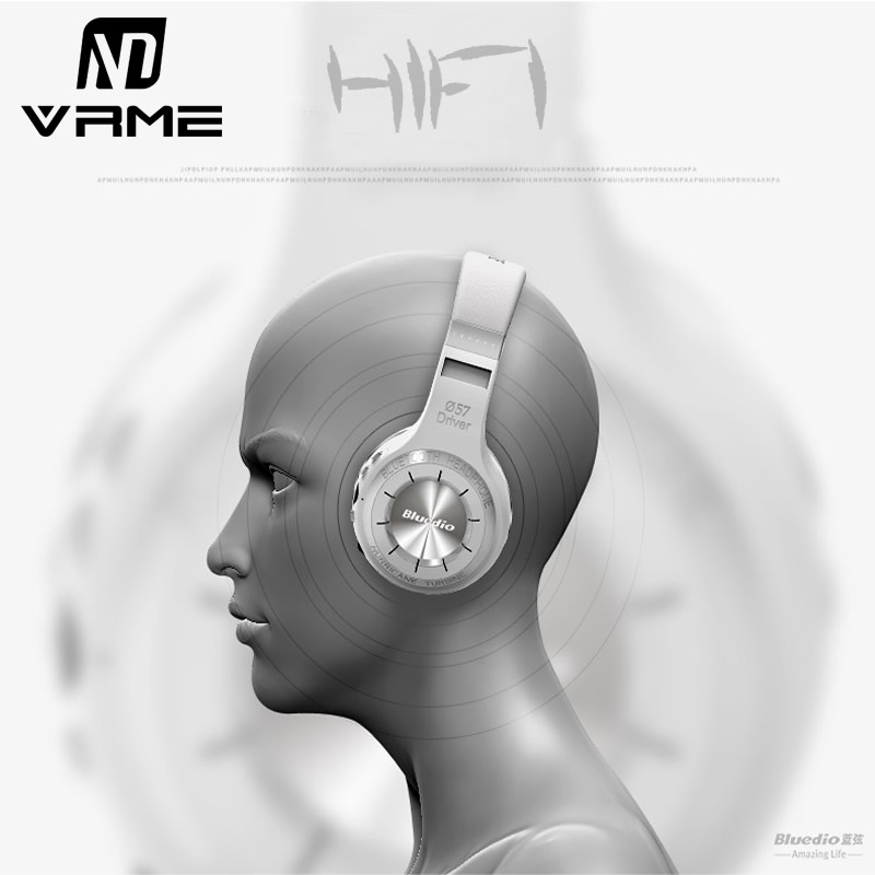 Bluedio H+ Bluetooth Headphone Stereo Wireless Earphones Built-in Mic Micro-SD FM Radio Over-ear Noise Canceling Hifi Headset стоимость