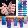 1 sheet Nail Manicure Art Stickers Nails Water Transfer Decals Full Cover Nail Beleza Design Wraps Temporary Tattoos Sticker