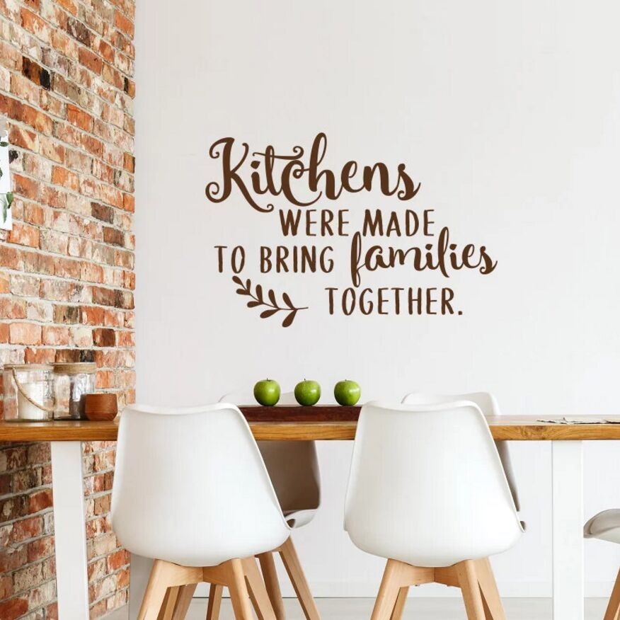 Dining Room Wall Sticker Kitchen Quote Wall Vinyl Decal ...