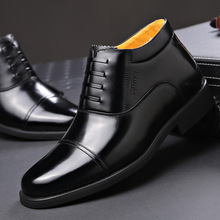 Pele dos homens de inverno de lã sapatos de algodão sapatos de couro comercial sapatos formal dos homens de grande porte shoes39-46