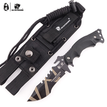 HX Outdoors Radiation TRIDENT 440C Stainless Steel Camping Hunting Army Survival Knife Outdoor Tools 58HRC Tactical Knives