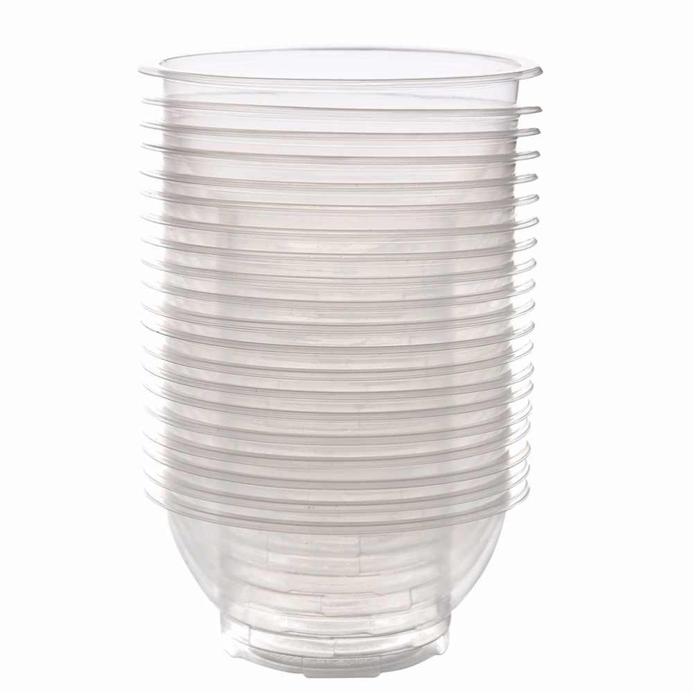 20 Buah Pesta Piknik Berkemah Mangkuk Sekali Pakai Plastik Sekali Pakai Beras Mangkuk Saji Dapur Penyimpanan Alat 7*5*12 Cm