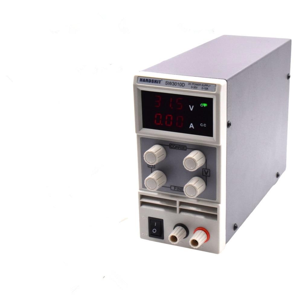 SW3010D Mini Digital  DC regulator adjustable power  supplier  30V 10A  110V-220V voltage Switching Power supply mini adjustable dc power supply laboratory power supply digital variable voltage regulator 30v10a four display ps3010dm