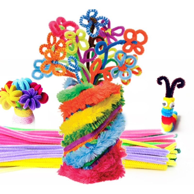 Fun Baby Kids Education Speelgoed voor Kinderen Pluche Stok Shilly-Stok DIY Animal Art Craft materia 100 pcs/set