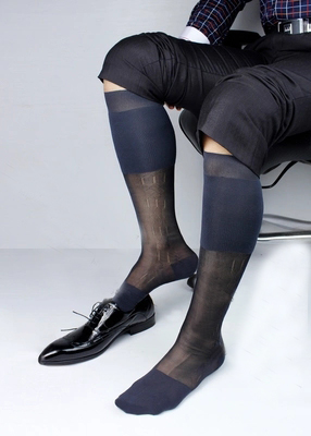High quality Thin Sheer Mens socks for leather shoes Formal dress New socks Glossy silk hose Sexy Gay collection fetish socks