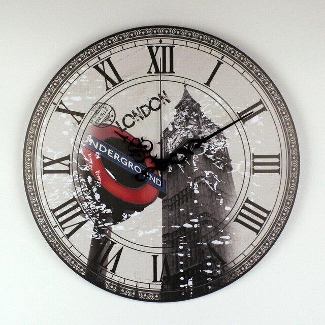 London Big Ben Large Decorative Wall Clock Modern Design More Silent ...