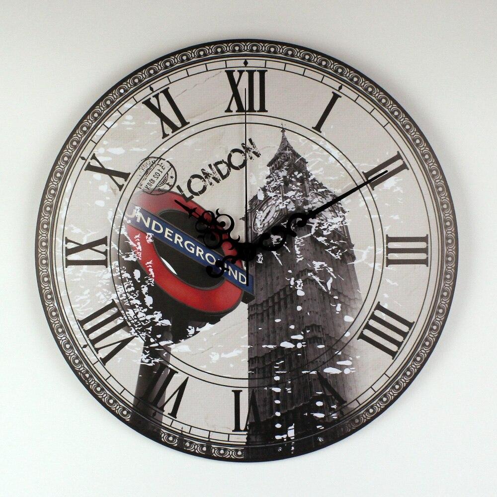 Londres Big Ben Grande Reloj de Pared Decorativo Moderno de Diseño ...