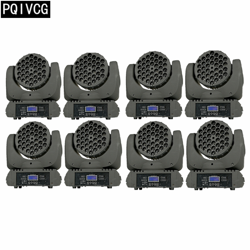 8pcs/36x3w led moving head lights  dmx professional disco lighting equipment dj lights8pcs/36x3w led moving head lights  dmx professional disco lighting equipment dj lights