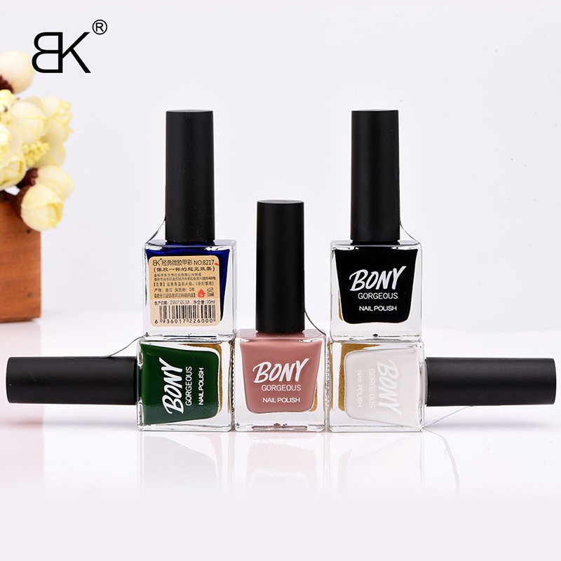 BK Brand 2017 New Pure Color Stamping Gel Nail Polish Long Lasting Quickly Dry Nail Lacquer Sweet Colors Stamp Enamel Paint 10ml