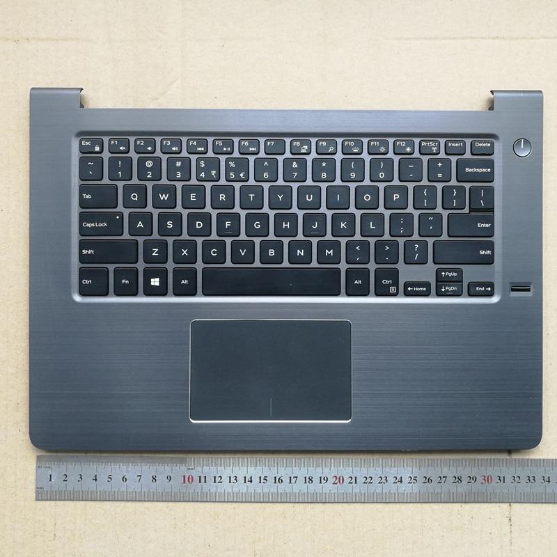 Retroiluminada 90% nuevo teclado portátil con touchpad palmrest para Dell Vostro 14 5000 5468 V5468 0D9GDC AM1Q1000600