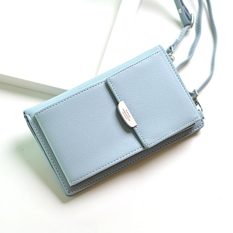 Womens Girls Clutch Mini Wallet Zipper Leather Card Holder Change Makeup Bags