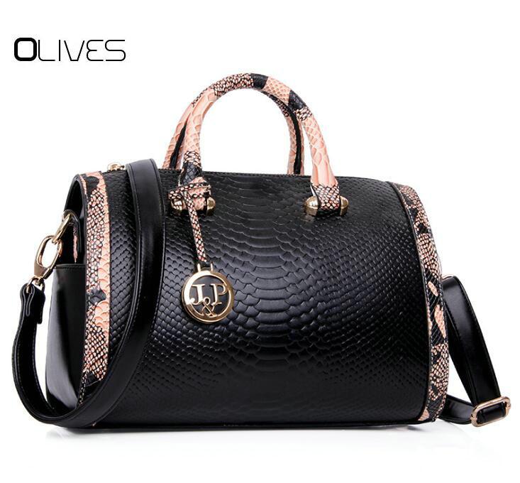 OLIVES New neverfull Bolsas Victor Hugo Pu Leather Ladies tote Handbags Sequined Women-M ...
