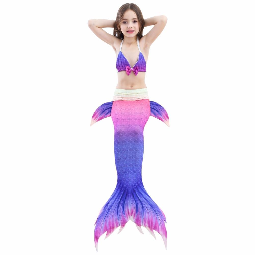 3 db / készlet lányok úszni hableány farok úszás jelmezek - Jelmezek
