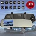 Registrador de Conducción Retrovisor del coche de 2.4 Pulgadas GPS Del Rearview Del Coche de Copia de seguridad Aparcamiento Cámara HD 1080 P 120 Grados