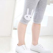 Children Girls Leggings Summer Knee Length Pants Cute Rabbit Printed Girls Pants Children Kids Trousers Legging Girl Bottom D30