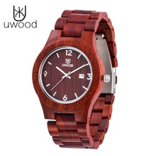 2016 Marketing Hot femmes en bois montre en bois rouge bois de santal Femmes Bracelet Creative En Bois Montres À Quartz Mode Montre-Bracelet