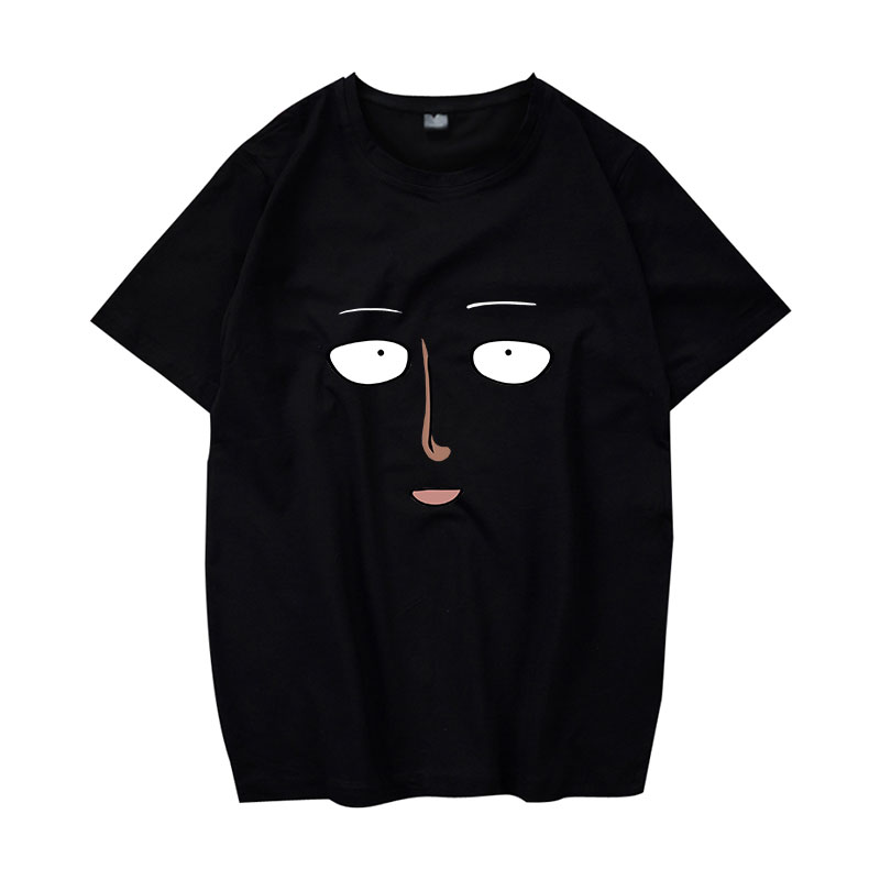 One Punch Man T Shirts Anime Cosplay Shirts Boy Student One Punch Man Face T-Shirt 3D Digital Printing Pure Cotton Tee Shirts