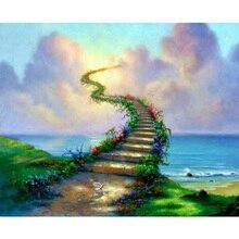 green ladder 5d Cross Stitch Diy Diamond Painting Rhinestones Embroidery Resin Set Canvas Craft Mosaic Handicraft K161