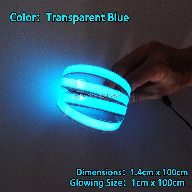 2017 New 8 Colors 1.4X100CM Not Include drives,Glowing EL Tape EL wire LED Strip,for house,dispaly,holiday,Garden,Car Moulding fuji 4mm cleaning tape for dds drives