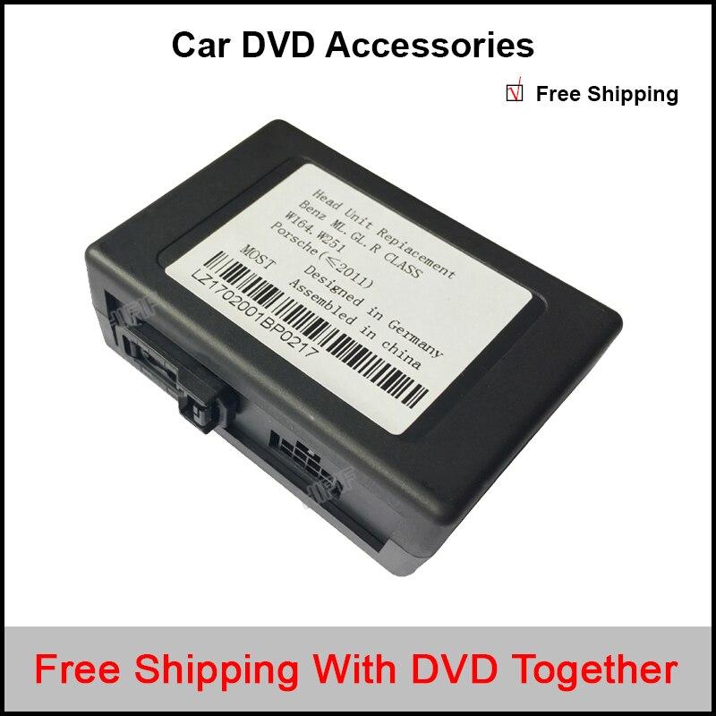 Вспомогательным входом RCA аудио конвертер волокна комплект, пригодный для Benz Порше большинство оптоволокна усилитель мощности (блоком aftermarket адаптер для Android)