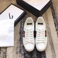 2018 shaduo модная повседневная обувь женская обувь из натуральной кожи с вышивкой белые туфли влюбленные пчела вышивка обувь для влюбленных