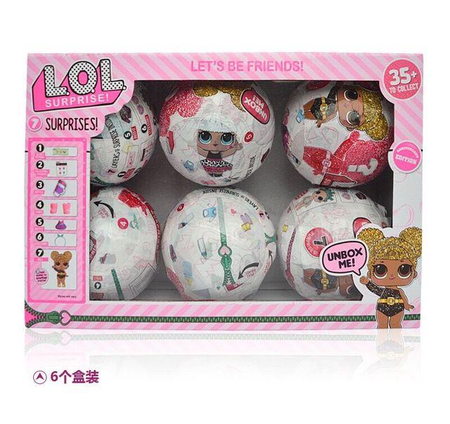10 см/7 см Kawaii блеск кукла LOL кукла Цвет изменить яйцо мяч Наряжаться игрушка фигурку Куклы забавные подарок для детей