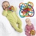 0-12 Meses Do Bebê Brinquedo Do Bebê Bola Chocalhos de Brinquedo Desenvolver A Inteligência Do Bebê Brinquedos Do Bebê Sino de Mão de Plástico Chocalho WJ266