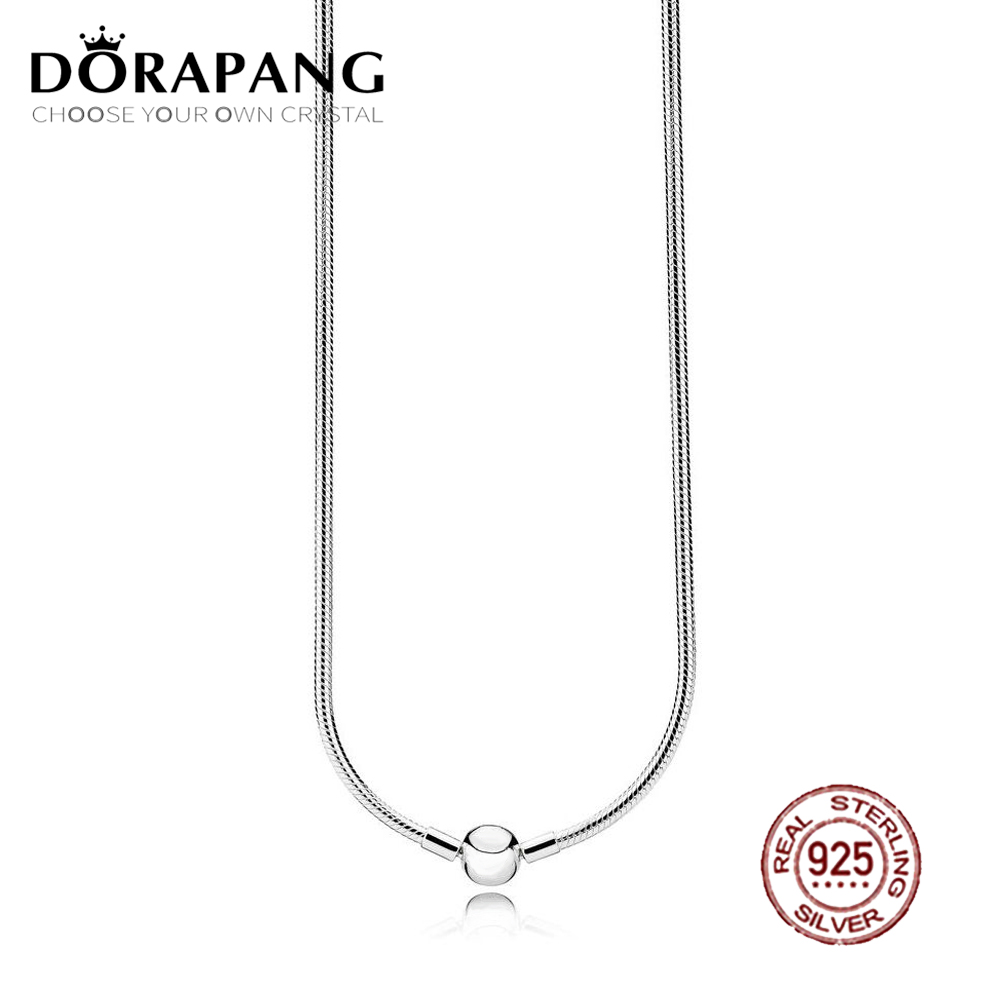 DORAPANG 2018 NEW 100% 925 Sterling Silver Charm Necklace Elegant Temperament Fit DIY Bead Chain Suitable Girl Gift Jewelry dorapang 100