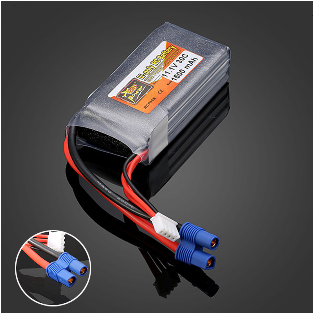 1pcs ZOP Power LiPo Battery 11 1V 1500mah 30C EC3 Plug For RC Quadcopter Drone Helicopter