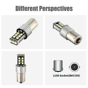 Image 5 - 자동차에 대 한 새로운 LED 램프 1156 P21W BA15S 2835 15LED Canbus 자동차 역방향 백업 꼬리 전구 흰색 차례 신호 빛