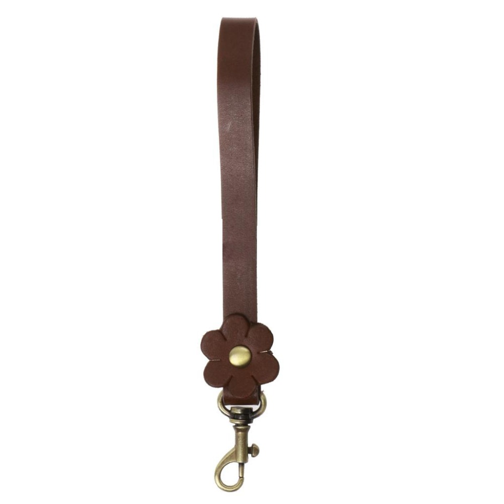Bag Handle 100% Real Cow Leather Shoulder Bags Belt DIY Replacement Handbag Flower Strap Bag Parts Accessories Decoration Gift