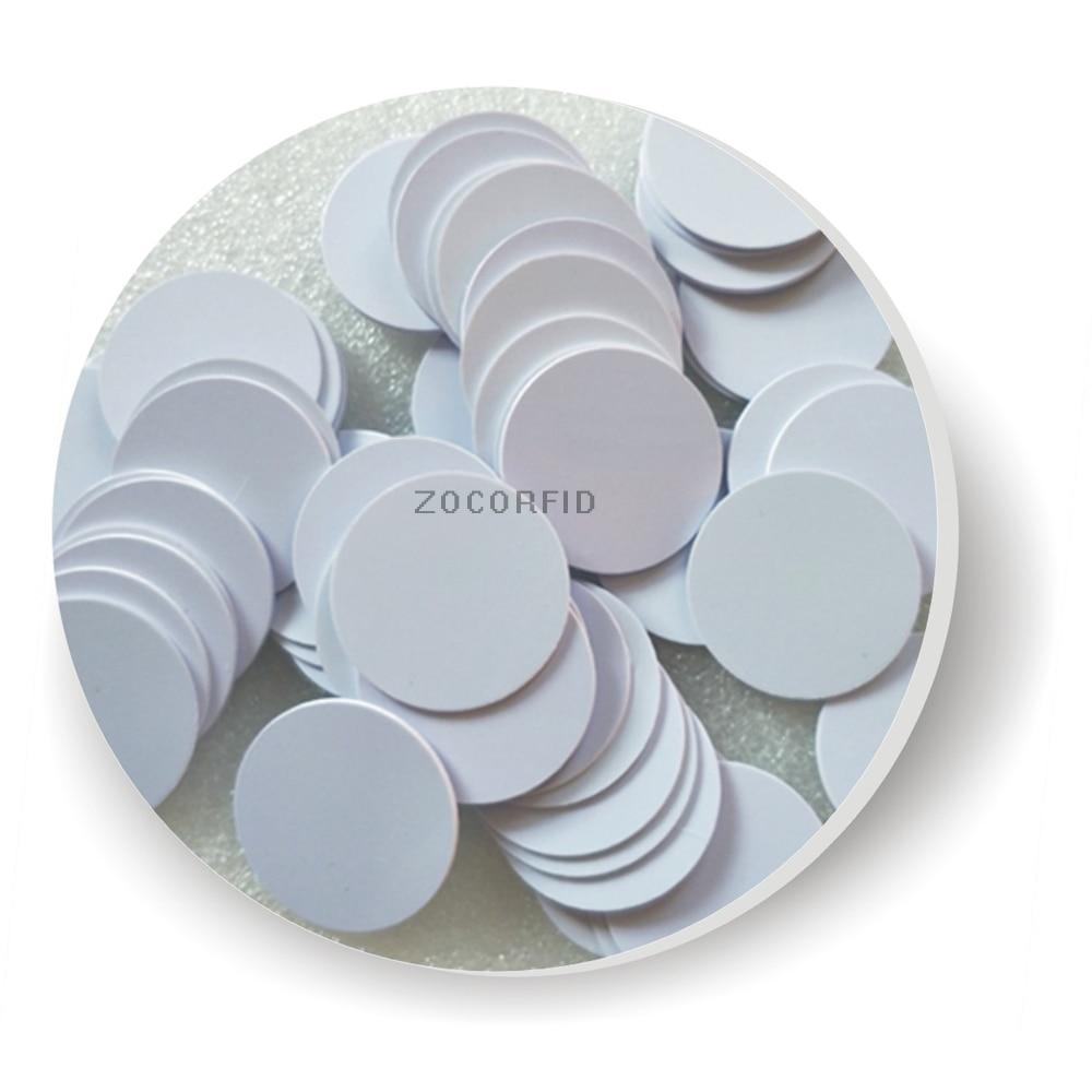 Free Shipping 100pcs RFID Coin Card Access Control Card/TK4100 125KHZ Diameter 25mm Keychain Card /waterproof