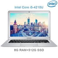 """מחברת מחשב נייד P7-05 8G RAM 512G SSD i5 4210U 14"""" Untral-דק מחשב שולחני מחשב נייד מחברת Gaming (1)"""