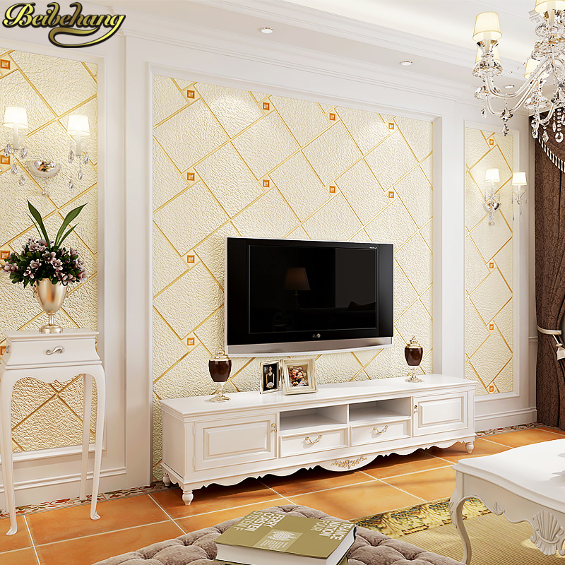 beibehang papel de parede 3D Luxury geometric squares wallpaper for walls Modern wall paper wall papers home decor living room beibehang blue retro nostalgia wallpaper for walls 3d modern wallpaper living room papel de parede 3d wall paper for bedroom