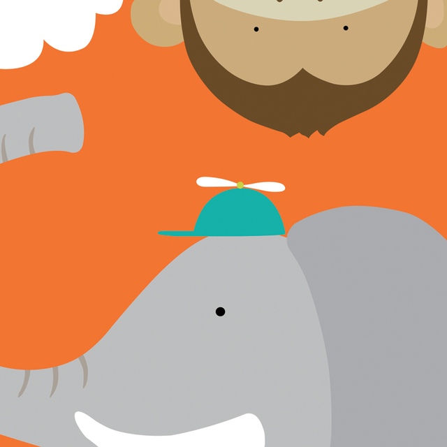 US $13.99 |Tiere ideal leinwand malerei landschaft drucke poster cartoon  poster kinderzimmer dekoration drucke karton elefanten affen in Tiere ideal  ...