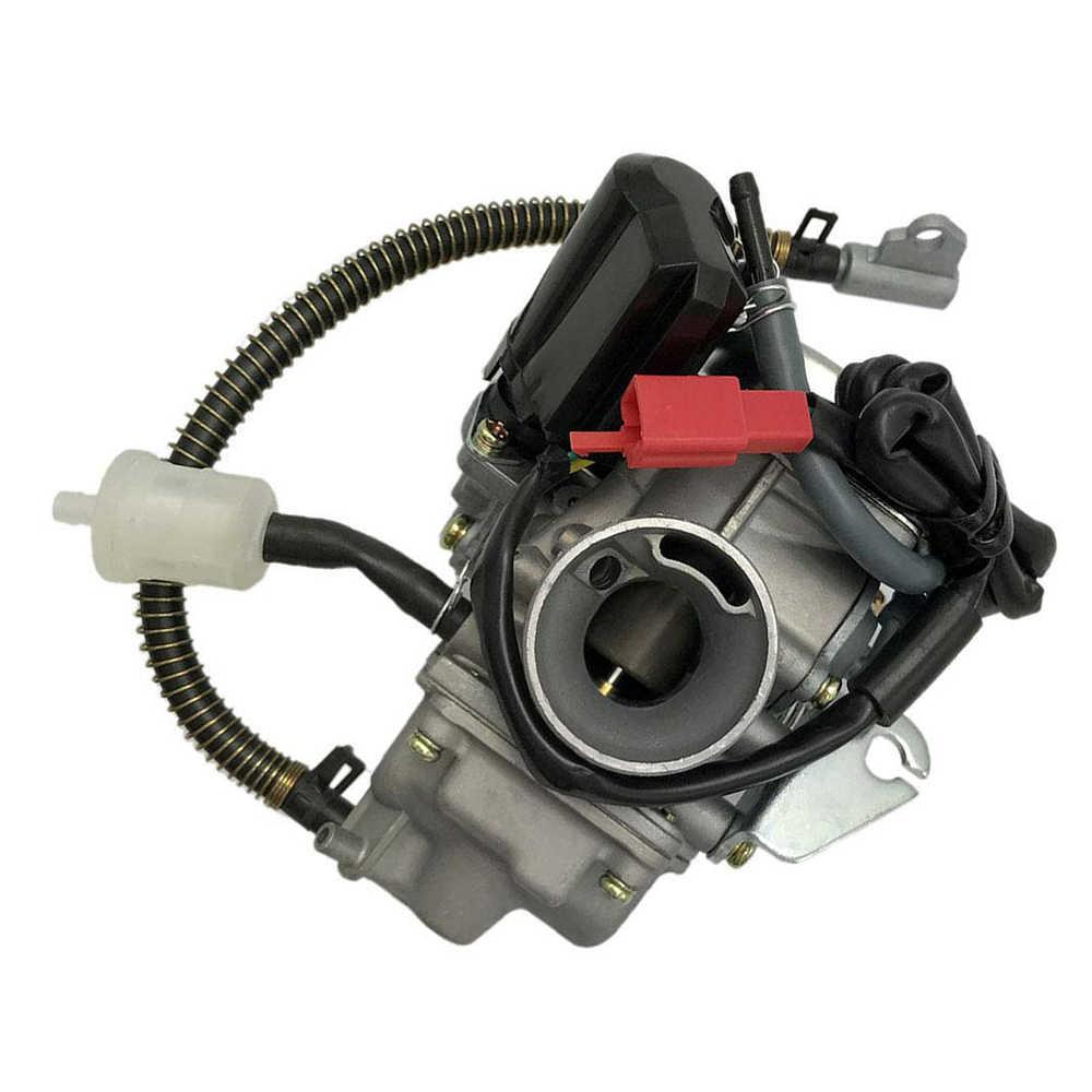Karbüratör Fit GY6 50CC 49CC 4 zamanlı Scooter Taotao motor 18mm Carb Intake Manifold hava filtresi
