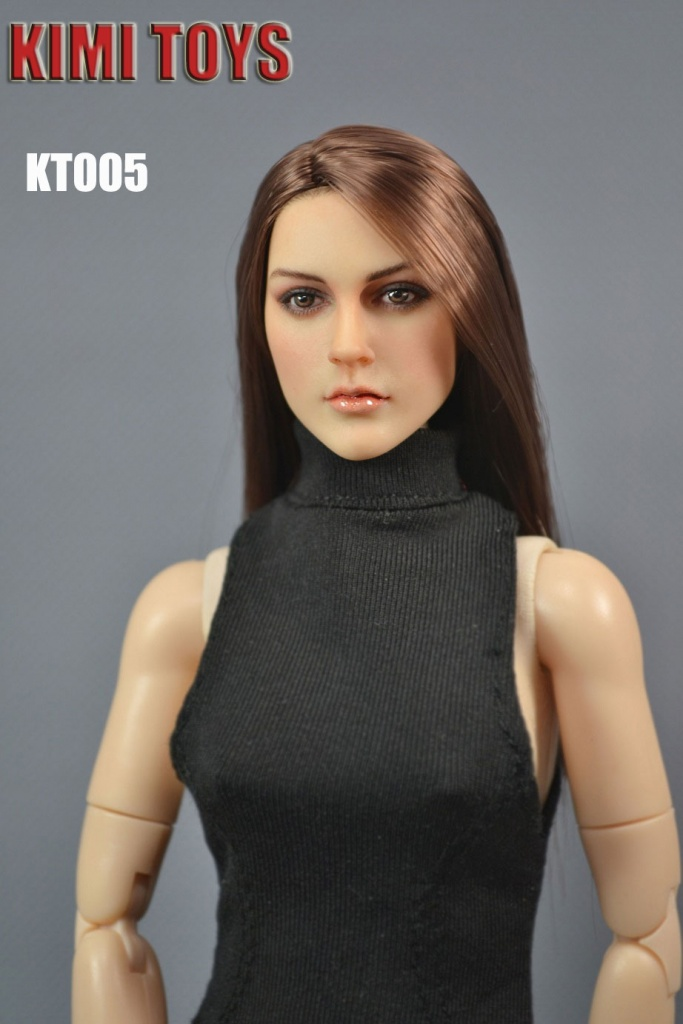 1//6 European American Female Head Sculpt KT005 For Hot Toys Phicen SHIP FROM USA