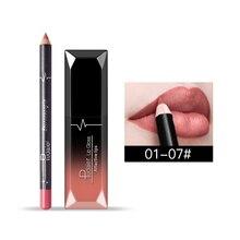 Блеск для губ+ карандаш для губ увлажняющий крем стойкий водонепроницаемый Матовая жидкая губная помада цветная палка для губ глянцевый блеск для губ Макияж