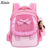 Dziewczynek Dzieci Bowknot Serce Dot Ładny Plecak Bagpack Enfant Maluch Szkoły Projektowania Mody Torby Sac Dos * 7731