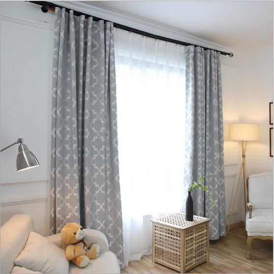 nouveaute moderne simple jacquard style fenetre rideau occultant pour salon chambre gris rose jaune 3 couleurs 1 pieces prix