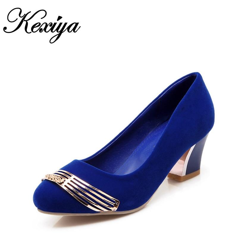 新しい2015ビッグサイズ30-50ファッション春/秋の女性靴固体群れ金属装飾ハイヒール小型30 31 32 33 HQW212