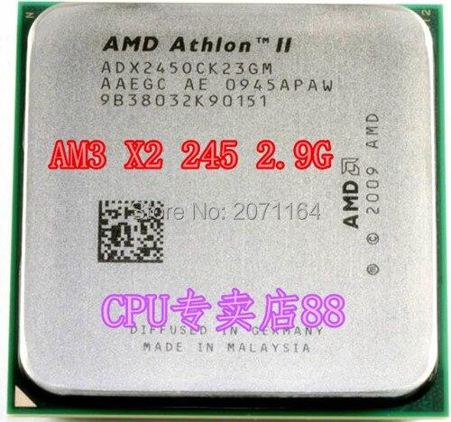 Бесплатная доставка AMD Athlon II X2 245 двухъядерный AM3 2.9 Г CPU настольного компьютера CPU