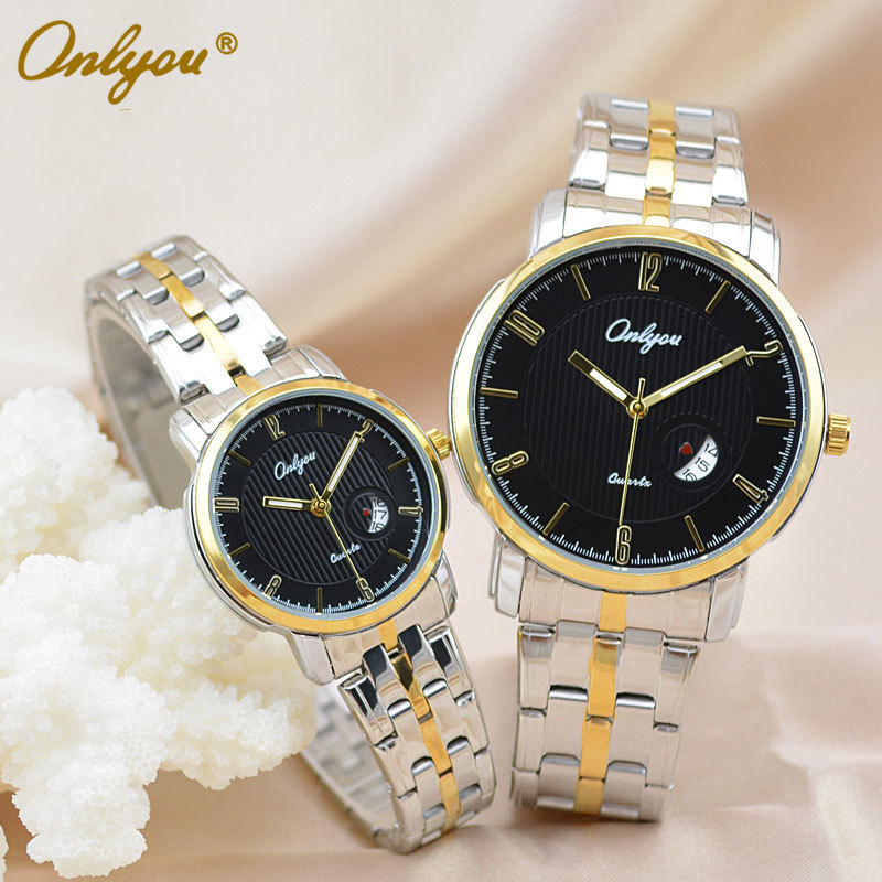 Onlyou Brand Luxury Watches Womens Men Quartz Watch Stainless Steel Watchband Wristwatches Fashion Ladies Dress Watch Clock 8861 onlyou brand luxury watches womens men quartz watch stainless steel watchband wristwatches fashion ladies dress watch clock 8861