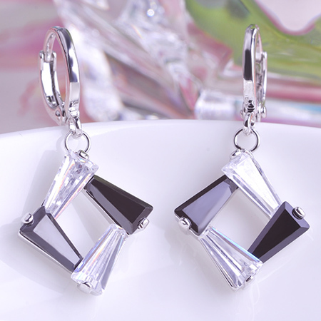 Crystal Square Jewelry Set