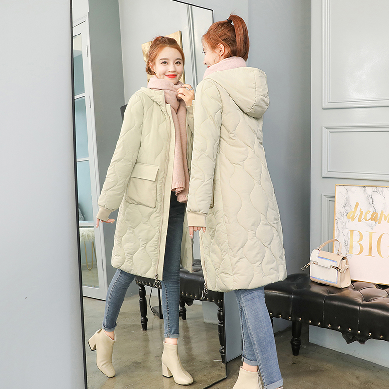 Autumn Winter Women Plus size Fashion Down long hoodie down   Parkas   Cotton warm Jackets Thick Female Long coat clothing