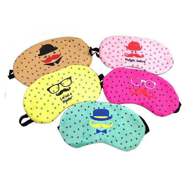 Soft Cute Eye Mask Travel Home Sleeping Rest Sleep Cover Shade Blinder Blindfold