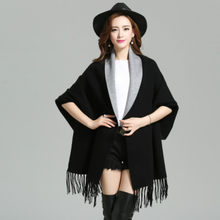 2017 Autumn New Maternity Women's Elegant Socialite Cashmere Tassel Cardigan Sweaters Batwing Sleeves Scarf Cape Outwear S-4XL(China)