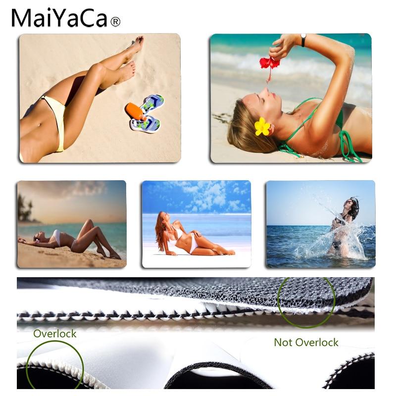 MaiYaCa простой Дизайн девочка у моря компьютерных игр для мышей Размеры для 180*220*2 мм и 250*290*2 мм коврик