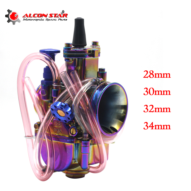Alconstar 28 30 32 34mm New Colorful Motorcycle Carburetor Carburador with Power Jet 2T 4T Scooter